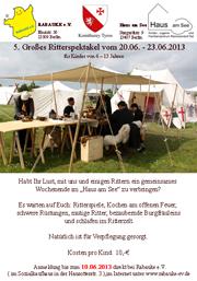 Ritterspektakel 2013
